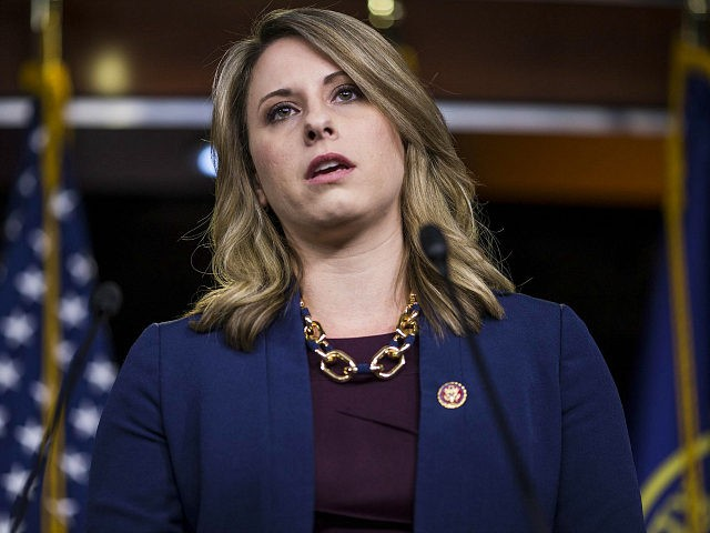 WASHINGTON, DC - APRIL 09: Rep. Katie Hill (D-CA) speaks during a news conference on April 9, 2019 in Washington, DC. House Democrats unveiled new letters to the Attorney General, HHS Secretary, and the White House demanding the production of documents related to Americans health care in the Texas v. …