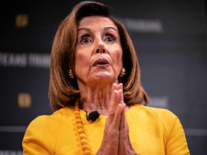 AUSTIN, TX - SEPTEMBER 28: Speaker of the House of Representatives, Nancy Pelosi speaks with Texas Tribune CEO, Evan Smith during a panel at The Texas Tribune Festival on September 28, 2019 in Austin, Texas. Pelosi was scheduled to speak before the announcement of the impeachment inquiry but the inquiry …
