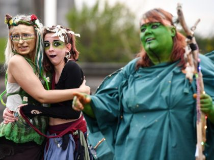 Beltane Fire Society performers celebrate the coming of summer by participating in the Beltane Fire Festival on Calton Hill April 30, 2019 in Edinburgh, Scotland. The event celebrates the ending of winter and is a revival of the ancient Celtic and Pagan festival of Beltane, the Gaelic name for the …