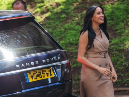 Meghan Markle, the Duchess of Sussex arrives at the University of Johannesburg, South Africa, on October 01, 2019. - Meghan Markle, the Duchess of Sussex, is meeting academics and students to discuss the challenges faced by young women in accessing higher education. (Photo by Michele Spatari / AFP) (Photo credit …
