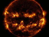 It's #SunDay! ☀️ Even our star celebrates the spooky season — in 2014, active regions on the Sun created this jack-o'-lantern face, as seen in ultraviolet light by our Solar Dynamics Observatory satellite. 🎃🛰 Download in high resolution: http://go.nasa.gov/1P1AG84 #Halloween