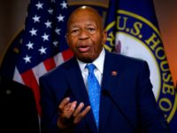 US Representative Elijah Cummings, Democrat of Maryland and Chairman of the House Oversight and Reform Committee, gestures as he delivers a press conference following the former Special Counsel's testimony before the House Select Committee on Intelligence in Washington, DC, on July 24, 2019. (Photo by ANDREW CABALLERO-REYNOLDS / AFP) (Photo …