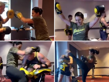 WATCH: Tulsi Gabbard Spars with UFC Champ Weili Zhang