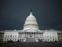 WASHINGTON, DC - JUNE 13: Storm clouds fill the sky over the U.S. Capitol Building, June 13, 2013 in Washington, DC. Potentially damaging storms are forecasted to hit parts of the east coast with potential for causing power wide spread outages. (Photo by Mark Wilson/Getty Images)