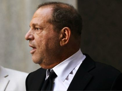 NEW YORK, NEW YORK - AUGUST 26: Harvey Weinstein exits court after an arraignment over a new indictment for sexual assault on August 26, 2019 in New York City. The new charges against the movie mogul are from an indictment involving the actor Annabella Sciorra. Weinstein plead not guilty on …