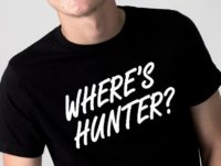 The Trump campaign has begun selling 'Where's Hunter' t-shirts (pictured) on their merchandise site for $25 a pop