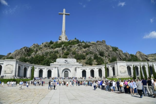 The basilica at The Valley of Fallen in San Lorenzo del Escorial near Madrid where Franco is currently buried
