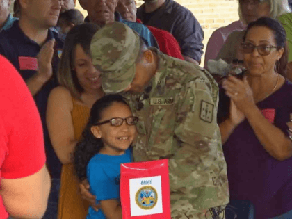 VIDEO: Army Soldier Surprises Daughter at Veterans Day School Assembly