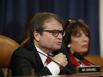 Rep. Mike Quigley, D-Ill., questions top U.S. diplomat in Ukraine William Taylor, and career Foreign Service officer George Kent, as they testify before the House Intelligence Committee on Capitol Hill in Washington, Wednesday, Nov. 13, 2019, during the first public impeachment hearing of President Donald Trump's efforts to tie U.S. …
