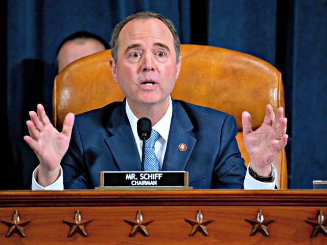 WASHINGTON, DC - NOVEMBER 21: Representative Adam Schiff, a Democrat from California and chairman of the House Intelligence Committee, makes a closing statement during an impeachment inquiry hearing on Capitol Hill November 21, 2019 in Washington, DC. The committee heard testimony during the fifth day of open hearings in the …