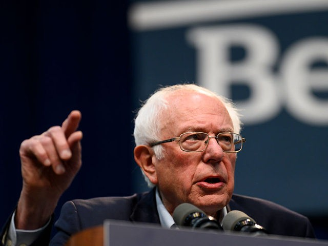 DES MOINES, IA - NOVEMBER 09: Democratic Presidential candidate Bernie Sanders (I-VT) speaks during the Climate Crisis Summit at Drake University on November 9, 2019 in Des Moines, Iowa. Sanders spoke about the current state of climate change in relation to U.S. policy. (Photo by Stephen Maturen/Getty Images)