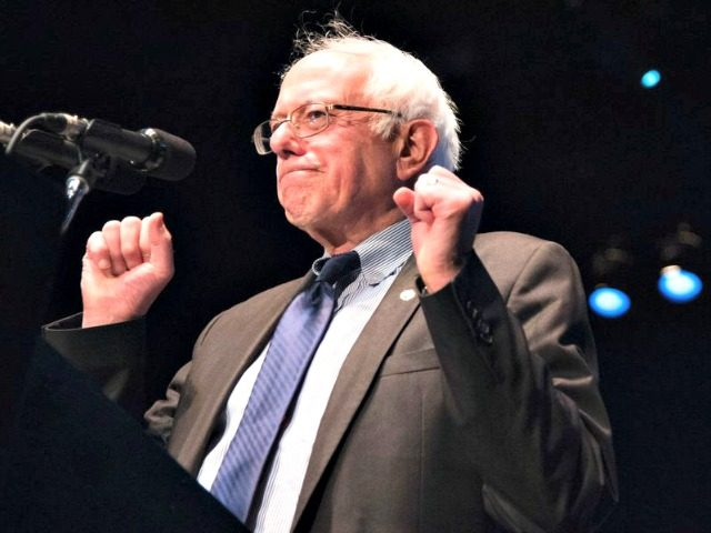Vermont Sen. Bernie Sanders speaks at a campaign rally on March 23 in Los Angeles. Robyn Beck/AFP/Getty Images