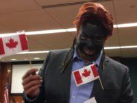 Black CSU student wearing blackface