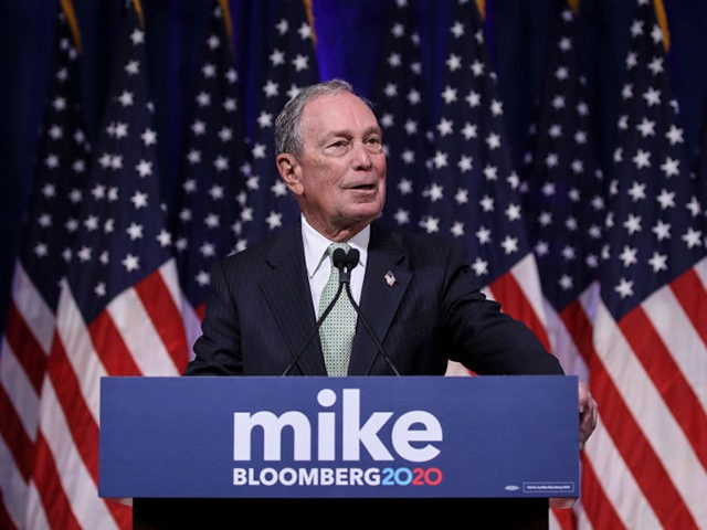 NORFOLK, VA - NOVEMBER 25: Newly announced Democratic presidential candidate, former New York Mayor Michael Bloomberg speaks at a press conference to discuss his presidential run on November 25, 2019 in Norfolk, Virginia. The 77-year old Bloomberg joins an already crowded Democratic field and is presenting himself as a moderate …