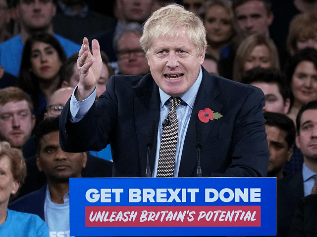 BIRMINGHAM, - NOVEMBER 06: Prime Minister Boris Johnson talks onstage at the launch of the Conservative Party's General Election campaign at the National Exhibition Centre on November 6, 2019 in Birmingham, United Kingdom. Boris Johnson visited HM The Queen earlier today to officially dissolve Parliament before heading to the West …