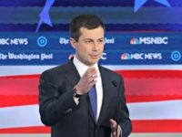 ATLANTA, GEORGIA - NOVEMBER 20: Democratic presidential candidate South Bend, Indiana Mayor Pete Buttigieg speaks during the Democratic Presidential Debate at Tyler Perry Studios November 20, 2019 in Atlanta, Georgia. Ten Democratic presidential hopefuls were chosen from the larger field of candidates to participate in the debate hosted by MSNBC …
