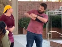 Chico State: Protester Takes Conservative's Sign, Strikes Him in the Face with It