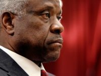 WASHINGTON - MARCH 13: U.S. Supreme Court Justice Clarence Thomas testifies before the House Financial Services and General Government Subcommittee on Capitol Hill March 13, 2008 in Washington, DC. Thomas and Justice Anthony Kennedy spoke about concerns with the ongoing remodeling of the court building, the reduction of paperwork due …