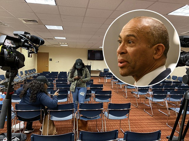 Former Massachusetts Governor Deval Patrick canceled a campaign event on Wednesday after only two showed up.
