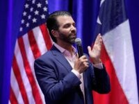 Donald Trump, Jr. speaks to supporters of his father, President Donald Trump, during a panel discussion, Tuesday, Oct. 15, 2019, in San Antonio. (AP Photo/Eric Gay)
