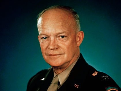 1945 photo of General Dwight D. Eisenhower in uniform. (AP Photo)