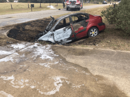He's a Veteran, a Volunteer Firefighter, a State Trooper, an EMT.. and now, he's her HERO. Capt. Mathes was at home, off duty, when he pulled a woman from this burning vehicle seconds before it was engulfed. Incredible. Hear his story on @KHOU at 4:00.