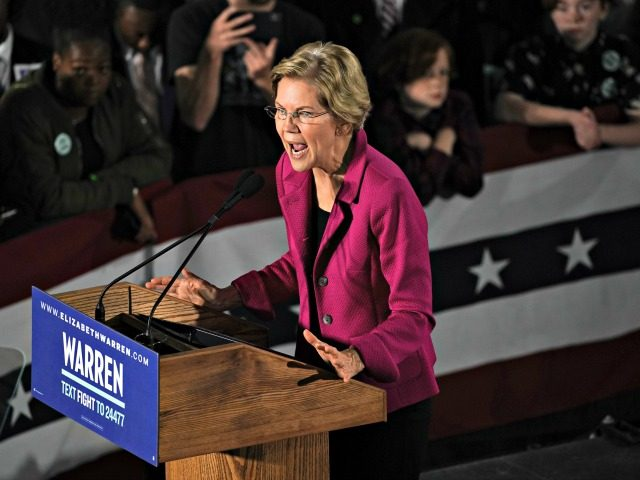 ATLANTA, GA - NOVEMBER 21: Democratic presidential candidate Sen. Elizabeth Warren (D-MA), speaks at a campaign event at Clark Atlanta University on November 21, 2019 in Atlanta, Georgia. Warren, introduced by U.S. Rep. Ayanna Pressley (D-MA), spoke about workers' rights, fighting voter suppression and the accomplishments of Black women activists. …