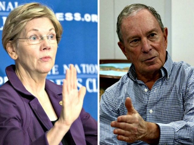 Warren mocks billionaires Bezos-Bloomberg US election talk