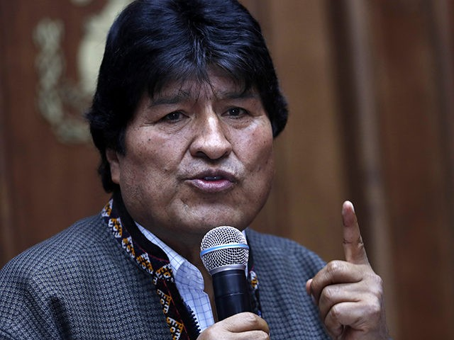 Bolivia's former President Evo Morales speaks during a press conference at the journalists club in Mexico City, Wednesday, Nov. 27, 2019. (AP Photo / Marco Ugarte)
