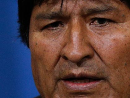 Bolivia's President Evo Morales speaks during a press conference at the military base in El Alto, in the outskirts of La Paz, Bolivia, Sunday, Nov. 10, 2019. Hours later Morales announced his resignation under mounting pressure from the military and the public after his re-election victory triggered weeks of fraud …