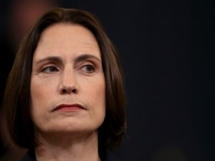 WASHINGTON, DC - NOVEMBER 21: Fiona Hill, the National Security Council's former senior director for Europe and Russia testifies before the House Intelligence Committee in the Longworth House Office Building on Capitol Hill November 21, 2019 in Washington, DC. The committee heard testimony during the fifth day of open hearings …