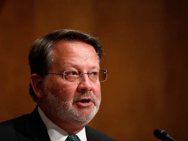 WASHINGTON, DC - JUNE 6: Sen. Gary Peters (D-MI) speaks during a Federal Spending Oversight And Emergency Management Subcommittee hearing June 6, 2018 on Capitol Hill in Washington, DC. Members of both parties raised questions about a lack of Congressional oversight of military deployments overseas. (Photo by Aaron P. Bernstein/Getty …
