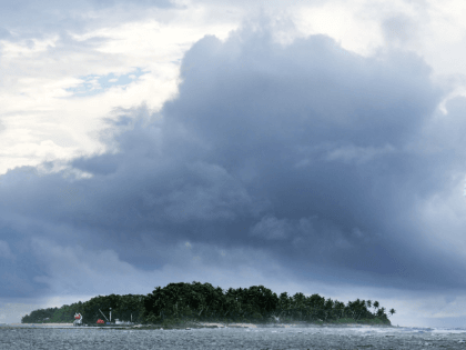 A small island off the north end on the mainland on August 15, 2018 in Funafuti, Tuvalu. All 8 islands in the group are inhabited. The small South Pacific island nation of Tuvalu is striving to mitigate the effects of climate change. Rising sea levels of 5mm per year since …