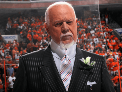 PHILADELPHIA - JUNE 09: CBC sportscaster Don Cherry reports before Game Six of the 2010 NHL Stanley Cup Final between the Chicago Blackhawks and the Philadelphia Flyers at the Wachovia Center on June 9, 2010 in Philadelphia, Pennsylvania. (Photo by Bruce Bennett/Getty Images)