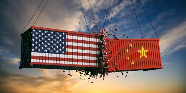 USA and China trade war.