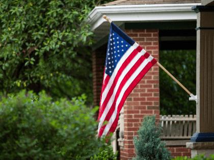 flag on house