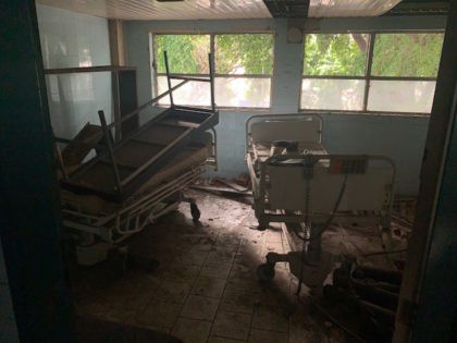 TOPSHOT - Picture of damaged medical equipment taken in a deteriorated area of the Jose Manuel de los Rios Hospital, the main public pediatric hospital in Venezuela, in Caracas, on May 24, 2019. (Photo by Marvin RECINOS / AFP) (Photo credit should read MARVIN RECINOS/AFP via Getty Images)
