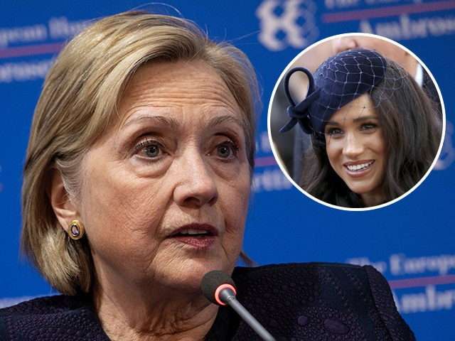 Failed 2016 presidential condidate Hillary Clinton would like nothing better than to hug Meghan Markle, the Duchess of Sussex and comfort her over the way the Royal has featured in the U.K. media.
