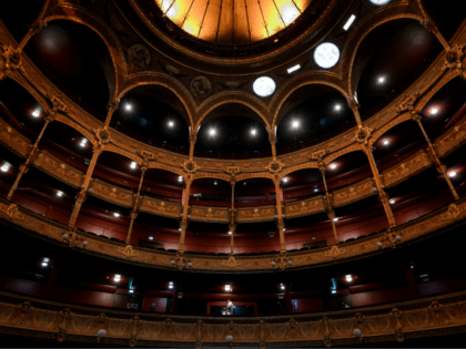 This picture taken on 05 September, 2019 shows the renovated Chatelet Theatre in Paris. (Photo by Lionel BONAVENTURE / AFP) (Photo credit should read LIONEL BONAVENTURE/AFP via Getty Images)