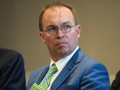 White House Chief of Staff Mick Mulvaney attends a meeting between US President Donald Trump and Iraqi Prime Minister Adil Abdul-Mahdi in New York, September 24, 2019, on the sidelines of the United Nations General Assembly. (Photo by SAUL LOEB / AFP) (Photo credit should read SAUL LOEB/AFP via Getty …