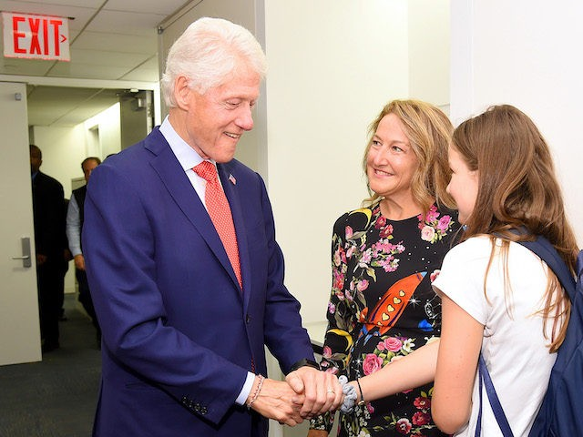 NEW YORK, NEW YORK - SEPTEMBER 11: Bill Clinton, Jennifer James and Scarlett James attend Annual Charity Day Hosted By Cantor Fitzgerald, BGC and GFI on September 11, 2019 in New York City. (Photo by Gary Gershoff/Getty Images for Cantor Fitzgerald)