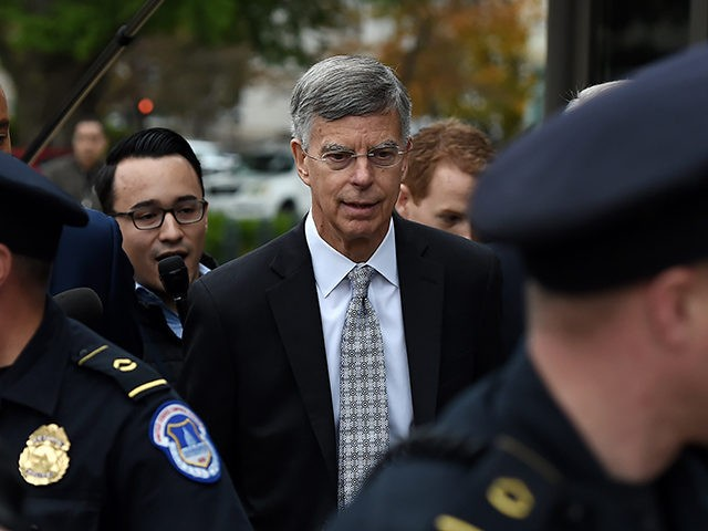 Former US Ambassador to Ukraine Bill Taylor (C) arrives at the US Capitol to testify before the House Intelligence, Foreign Affairs and Oversight committees as part of the ongoing impeachment investigation of US President Donald Trump on October 22, 2019 in Washington, DC. (Photo by Olivier Douliery / AFP) (Photo …