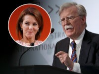 "(INSET: NBC News anchor Stephanie Ruhle) WASHINGTON, DC - SEPTEMBER 30: Former U.S. National Security Advisor John Bolton speaks at the Center for Strategic and International Studies September 30, 2019 in Washington, DC. Bolton spoke on the topic of , ""Navigating Geostrategic Flux in Asia: The United States and Korea."" …"