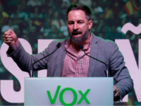 Spanish far-right Vox party president Santiago Abascal delivers a speech during a rally to launch the party's electoral campaign at La Farga in L'Hospitalet del Llobregat southwest of Barcelona, on October 31, 2019, ahead of the November 10 general elections. - Election campaigning for Spain's fourth general election in as …