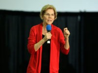 CEDAR RAPIDS, IA - NOVEMBER 02: Democratic presidential candidate Sen. Elizabeth Warren (D-MA) speaks to guests during the Finkenauer Fish Fry at the Hawkeye Downs Event Center on November 02, 2019 in Cedar Rapids, Iowa. The 2020 Iowa Democratic caucuses will take place on February 3, 2020, making it the …