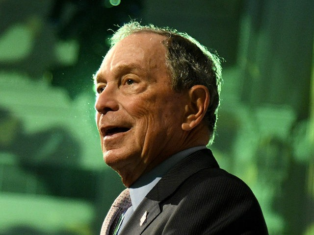 NEW YORK, NEW YORK - OCTOBER 17: Honoree Michael Bloomberg speaks onstage during the Hudson River Park Annual Gala at Cipriani South Street on October 17, 2019 in New York City. (Photo by Bryan Bedder/Getty Images for Hudson River Park)