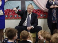 TAUNTON, ENGLAND - NOVEMBER 14: British Prime Minister Boris Johnson visits West Monkton CEVC Primary School on a General Election campaign trail on November 14, 2019 in Taunton, England. (Photo by Frank Augstein - WPA Pool/Getty Images)