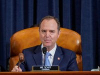 WASHINGTON, DC - NOVEMBER 15: (L-R) House Intelligence Committee Chairman Adam Schiff (D-CA) uses his gavel next to ranking member Rep. Devin Nunez (R-CA) during testimony by U.S. Ambassador to Ukraine Marie Yovanovitch before the House Intelligence Committee in the Longworth House Office Building on Capitol Hill November 15, 2019 …