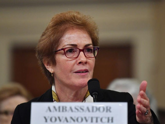 Former US Ambassador to the Ukraine Marie Yovanovitch testifies before the House Permanent Select Committee on Intelligence as part of the impeachment inquiry into US President Donald Trump, on Capitol Hill on November 15, 2019 in Washington DC. - Public impeachment hearings resume Friday with the testimony of former ambassador …
