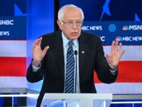 Democratic presidential hopeful Vermont Senator Bernie Sanders speaks during the fifth Democratic primary debate of the 2020 presidential campaign season co-hosted by MSNBC and The Washington Post at Tyler Perry Studios in Atlanta, Georgia on November 20, 2019. (Photo by SAUL LOEB / AFP) (Photo by SAUL LOEB/AFP via Getty …